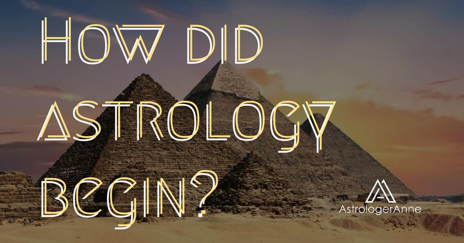 How did astrology begin pyramid graphic