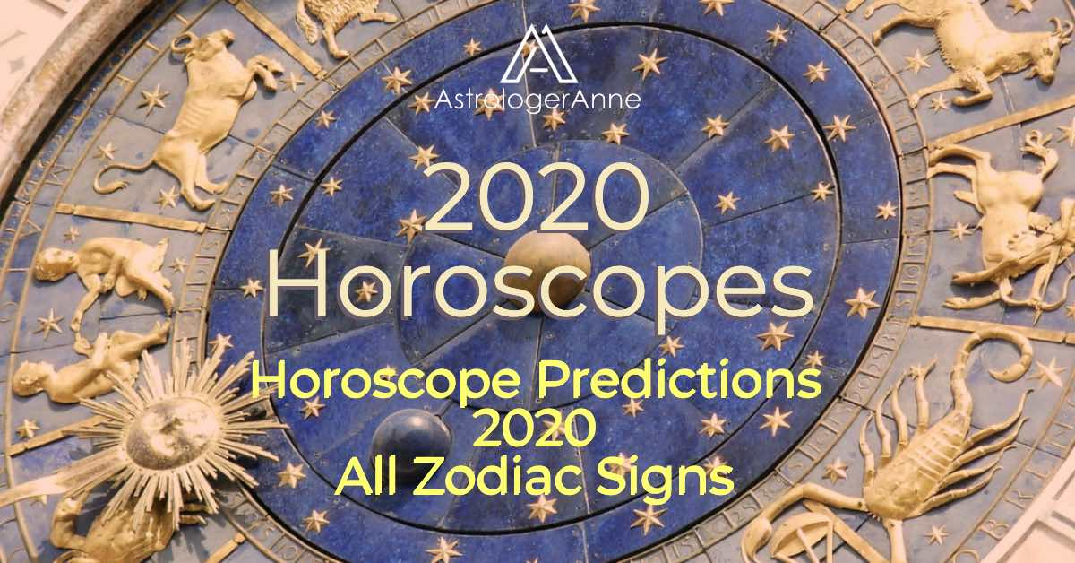 Blue zodiac wheel with gold zodiac sign sculptures for all 12 star signs for 2020 horoscopes