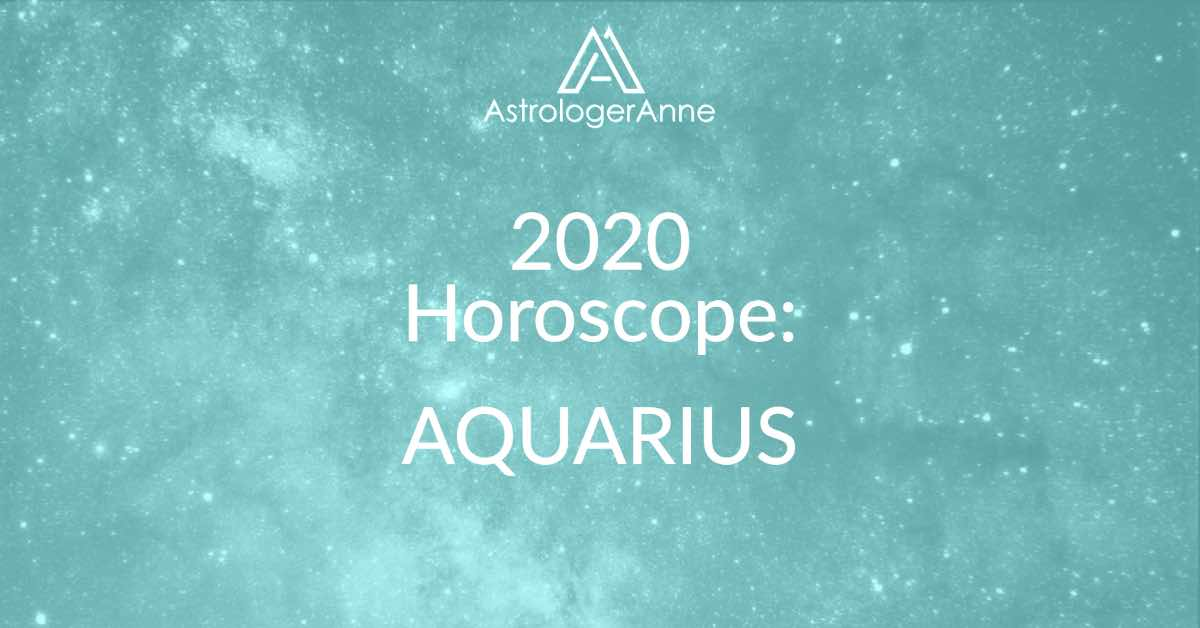 Aquamarine starry night sky for 2020 horoscope for Aquarius