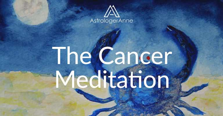 Cancer meditation - Cancer watercolor painting by Anne Nordhaus-Bike-all-rights-reserved