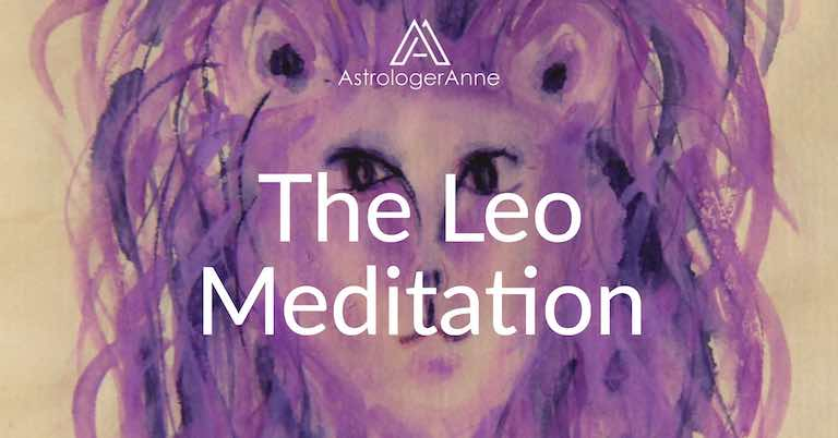 Leo meditation - Leo watercolor painting by Anne Nordhaus-Bike-all-rights-reserved