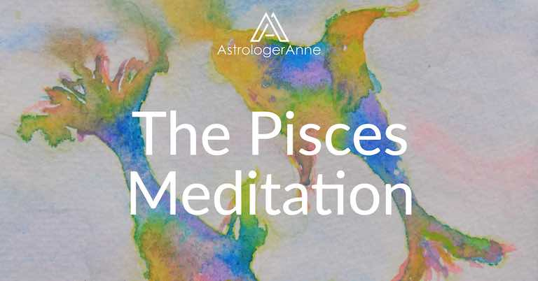 Pisces meditation watercolor painting by Anne Nordhaus-Bike-all-rights-reserved