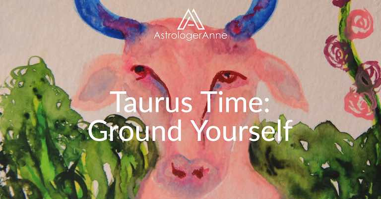 Taurus traits - Taurus watercolor painting by Anne Nordhaus-Bike-all-rights-reserved