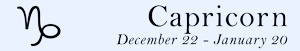 Capricorn zodiac sign symbol and dates