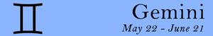 Gemini zodiac sign symbol and dates