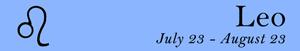 Leo zodiac sign symbol and dates