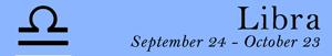 Libra zodiac sign symbol and dates