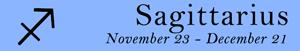 Sagittarius zodiac sign symbol and dates