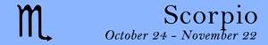 Scorpio zodiac sign symbol and dates
