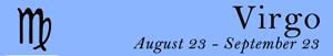 Virgo zodiac sign symbol and dates