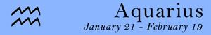 Aquarius zodiac sign symbol and Aquarius dates
