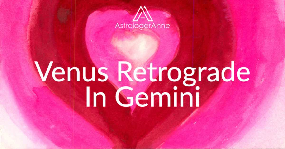 Layered Heart red heart painting for Venus retrograde in Gemini post