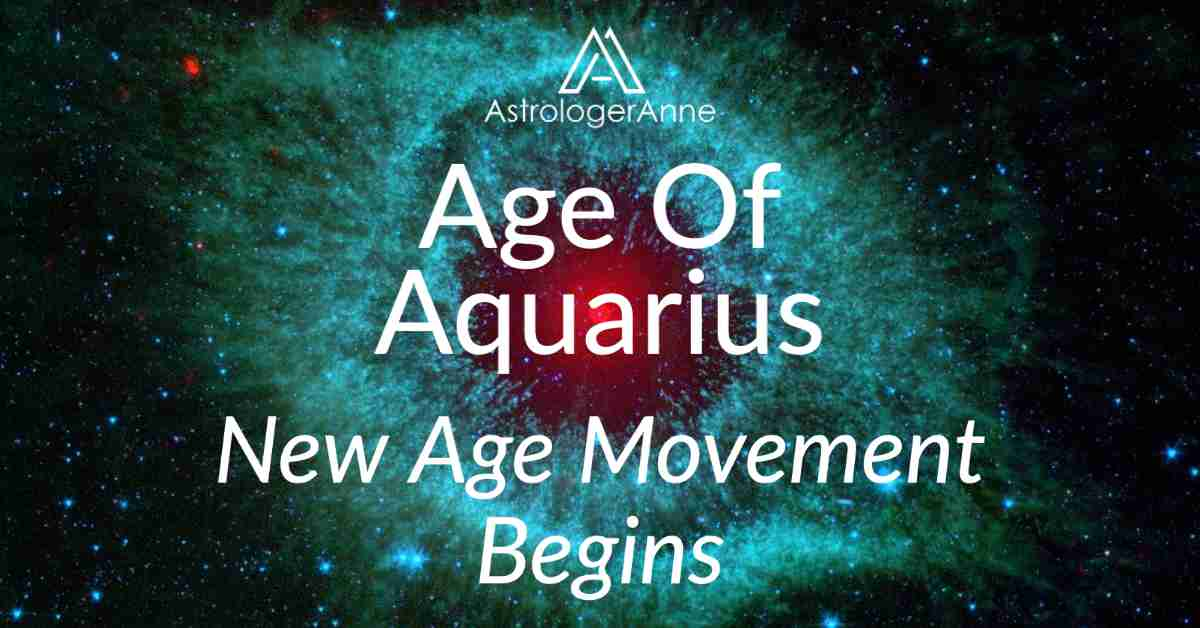 Helix Nebula within Aquarius constellation - Age Of Aquarius and new age movement begins