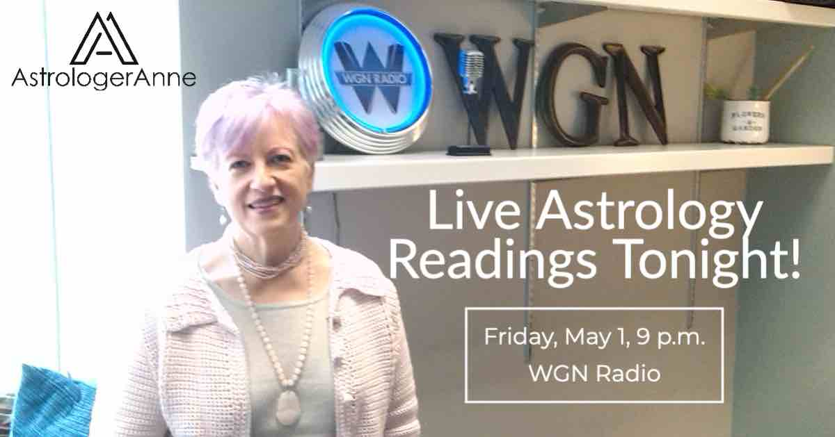Astrologer Anne at WGN Radio - giving live readings on air