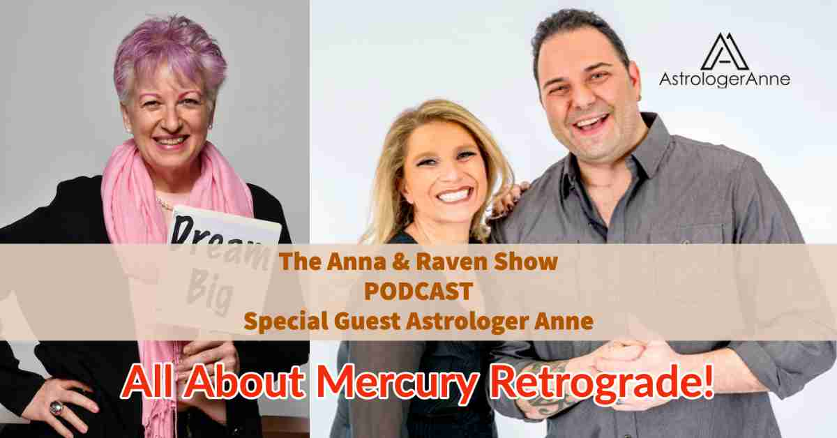 Astrologer Anne Nordhaus-Bike with Anna Zap and Raven for Anna & Raven Show on Mercury retrograde