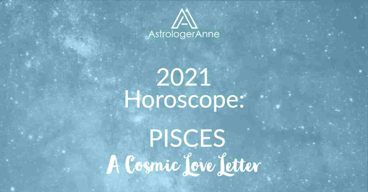 Pisces Horoscope 2021 - turquoise starry sky for Pisces and A Cosmic Love Letter