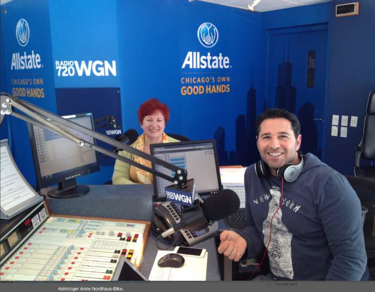 Halloween astrology podcast with Anne Nordhaus-Bike and Frank Fontana on WGN Radio