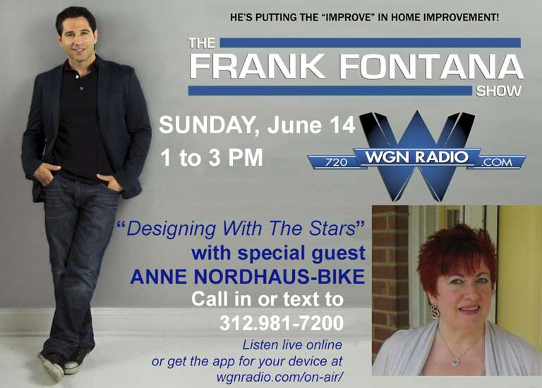 Show poster for summer astrology with Anne Nordhaus-Bike and Frank Fontana on WGN Radio